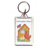 Cluckingham Palace Keyring