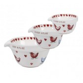 Alex Clark Love Birds Set of 3 Measuring Cups