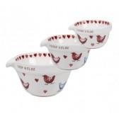 Alex Clark Love Birds Set of 3 Measuring Cups