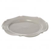 Miel Ceramic Large Platter Dish in Light Grey