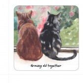 The Little Dog Moggie Together Coaster
