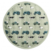 On the Farm Circular Hob Cover by Sophie Allport