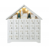 Parlane White Christmas Scene LED Advent Calendar