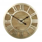 Albus Wood & Metal Clock