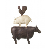 Cow Pig Chicken Ornament (Small)