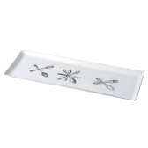 White Cutlery Plate