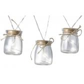 Garland Glass Jar Lights (Set of 8)