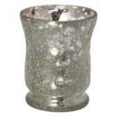 Parlane Hurricane Mirror Crackle Tea Light Holder