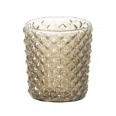 Parlane Lena Glass Tealight Holder in Gold