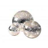 Mirrored Illuminated Decorative Balls (Set of 3)
