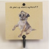 The Little Dog Paw's Up Metal Hook Plaque