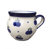 Blueberry Polish Pottery Barrel Mug