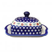 Cranberry Polish Pottery Butter Dish