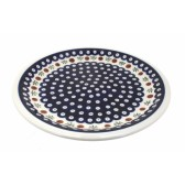 Cranberry Polish Pottery Dinner Plate