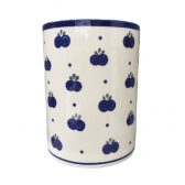 Blueberry Polish Pottery Utensil Jar