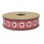 East of India - Multi Heart Print Fabric Ribbon