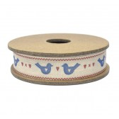 East of India - Love Birds Fabric Ribbon