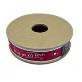 East of India - With Much Love Fabric Ribbon