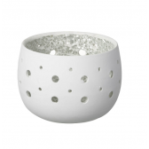 Rivoli White Tealight Holder