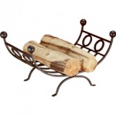 Roden Black Log Holder
