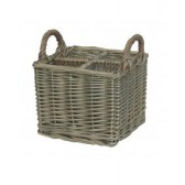Antique Wash Willow Small Partition Cutlery Basket