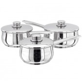 Stellar 1000 3pc Stainless Steel Saucepan Set