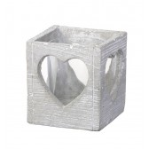 Grey Wash Concrete Tea Light Holder