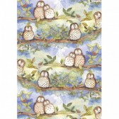 Alex Clark Owls Tea Towel