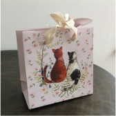 Two Cats Small Gift Bag