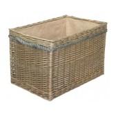 Large Rectangular Rope Handled Log Basket