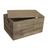 Large Oak Effect Heart Cut-Out Box
