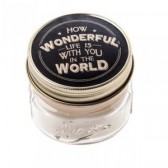 Candle Jar - How wonderful life is