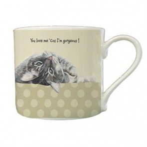 Oscar Cat Mug - You Love me 'cos I'm gorgeous