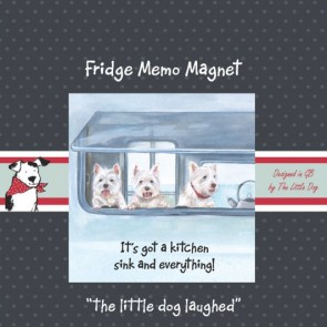 The Little Dog Caravanning Fridge Magnet