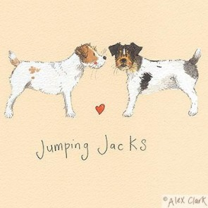 Alex Clark Jumping Jacks canvas print - Jack Russell