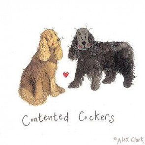 Alex Clark Contented Cockers canvas print