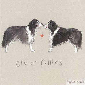 Alex Clark Clever Collies canvas block