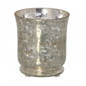 Hurricane Mirror Crackle Candle Holder