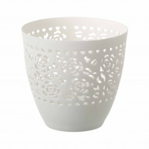 Filagree Rose Ceramic Tealight Holder