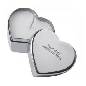 Parlane Silver Stainless Steel Heart Candle Box