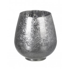 Frozen Glass White Tealight Holder