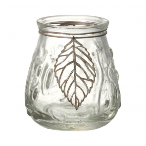 Parlane leaves tealight candleholder