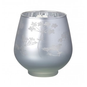Cow Parsley Glass Tealight Holder