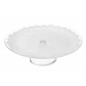 Lace Glass Cake Stand (Large)