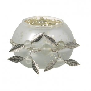 Sophia White Glass Tea Light Holder