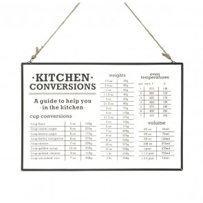 Kitchen Conversions Glass Hanger  By Parlane  H200 x W300 x D5mm - Clear Glass / Black Metal