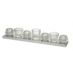 Parlane mixed decorartive glass tealights on tray