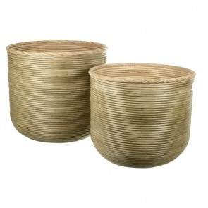 Serang Natural Rattan Log Baskets