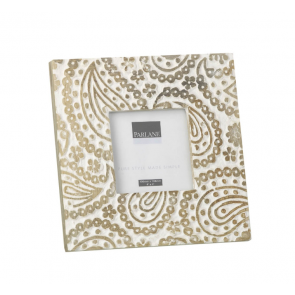 Parlane Paisley White Wood Photo Frame