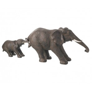 Parlane Nelly Elephant & Baby Ornament